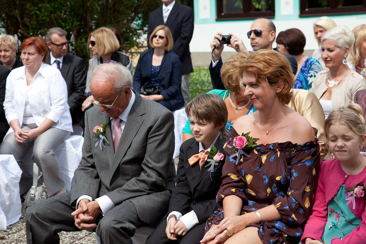 Familie der Braut